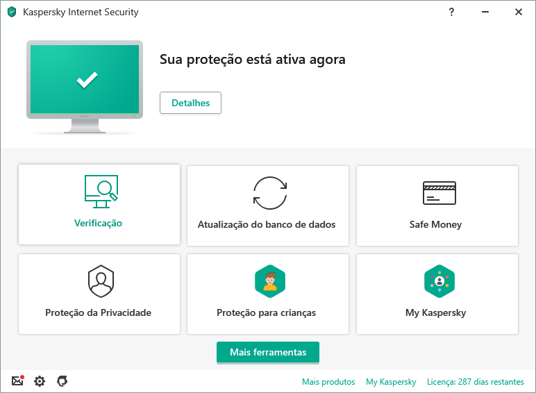 Kaspersky Internet Security content/pt-br/images/b2c/product-screenshot/1 FL19 Main UI (green state) KIS PT-BR.png