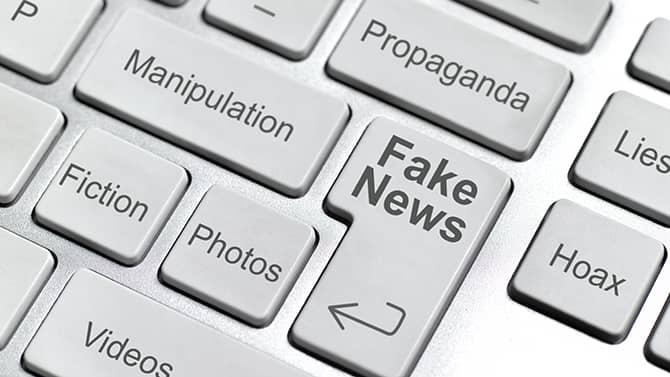 Exemplos de fake news