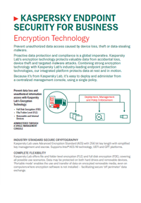 Folha de dados do Kaspersky Endpoint Security for Business Encryption Technology