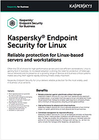Folha de dados do Kaspersky Security for Linux